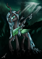 Queen Chrysalis - colored by Kojiro2561