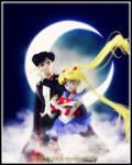 Sailor Moon and Tuxedo Kamen by TRXNALARA