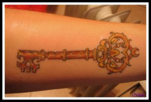 Key Tattoo by Broken25
