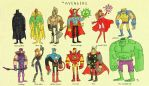 The Avengers by tyrannus