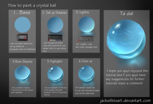 Crystal Ball Tutorial by Jackiefelixart