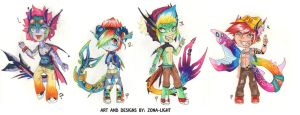 Sparkle shark Bros Adopts (OPEN) by Zona-Light
