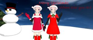 Dark and Silvia with you all Merry Christmas by Silvia-x-Gaara