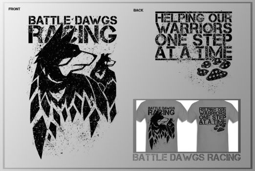 Battle Dawgs Racing Shirt by aaronprovost
