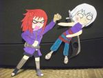Paperchild: Karin and Suigetsu by ninjawolf140