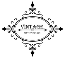 Decorative Oval Vintage Frame Vector Graphics by 123freevectors