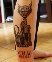 Cheshire Cat tattoo by johan887766