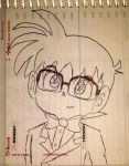 Detective Conan (Pen Sketch Test) by OrdoMandalore