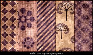 Grungy Burgundy Patterns Part2 by WebTreatsETC