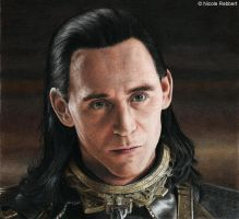 The Trial of Loki (colour pencils) by Quelchii