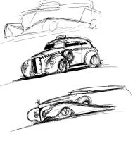 Old Car sketches by Jepray