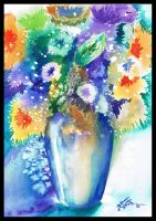 Vase of Flowers by Taibaleigh