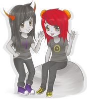 CP : Ryuvi and Sonny by faintlaughter