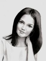 Katie Holmes by MikeRobinsArt