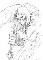 Darksiders 2 - Death Sketch 1 by SulaMoon