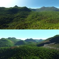Bryce 7.1 Pro - 10 minute vegetation effect video by davidbrinnen