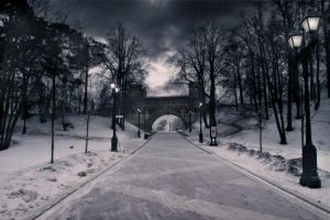 Road to castle of Catherine II by Michael-Rayne