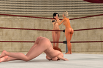 Laura and Allison vs Britney and Jackeline 24 by cptn0bvious