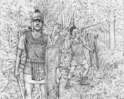 Roman Legion in A Forest by lathander1987