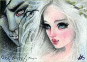 Hades and persephone ACEO by Katerina-Art