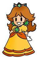 Paper Mario Daisy by LouiseLoo