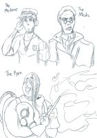 TF2 The Medic  Pyro n MedOUT by toriiichan