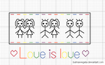 Gay Pride - xstitch pattern by bulmaxvegeta