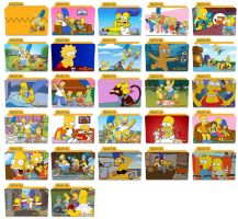 The Simpsons Folder Icons by nellanel