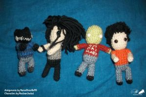 JSMT Amigurumis and Johnny Steve Amigurumi by NuclearJackal