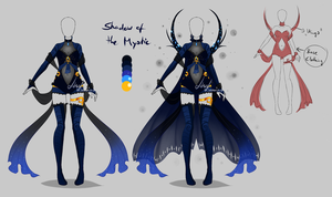 Outfit design - Shadow of the Mystic - closed by LotusLumino