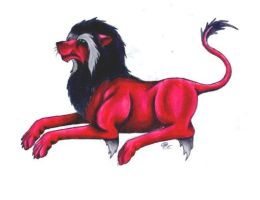 Red lion by Skychaser