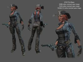 Female gunslinger by RedHeretic