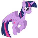Vector: Twilight Sparkle Flying by PaulyVectors