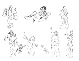 Figure Drawing Book Semester 2 page 13 by 24movements