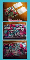 Custom Kawaii Asian 3DS Case - SALE or TRADE by ellysketchit