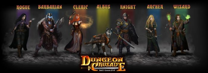 Dungeon Crusade: Adventurers Group Shot by GraphicGeek