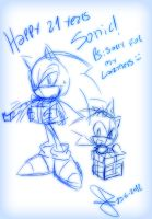 happy 21 years Sonic xD by idolnya