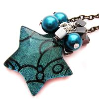 Turquoise Star Necklace by fairy-cakes