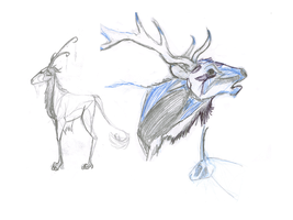 Doodle gahters  antlers only by Apollos-Foxhunt