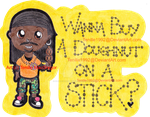 Wanna buy a dougnut on a stick? by Fantasy-and-Fiction