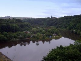 view from old railway bridge by Sceptre63