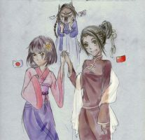 JAPAN AND CHINA GENDERBEND XD by JCAwesome
