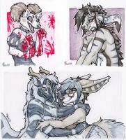 Grayscale Marker Commissions by Blattaphile