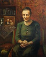 portrait of grandmother by Rahmatozz