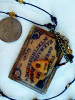 miniature Ouija Board Necklace by wickedgems