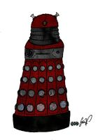 Red Dalek Textured by systemcat