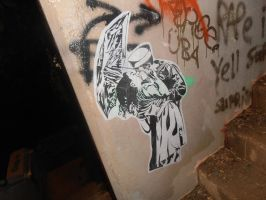 naval kiss wheatpaste by Jankycc