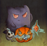 Pokemon Ghost Halloween by XmzlazyheadX