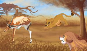 Collab: Hunting Lesson by Nollaig