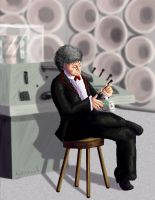 The Third Doctor by hyenacub